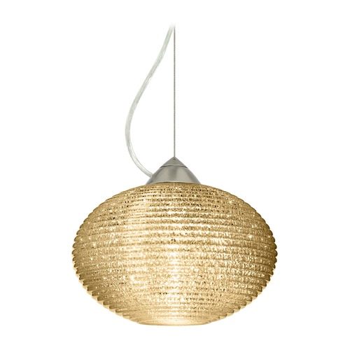 Besa Lighting Besa Lighting Pape Satin Nickel Pendant Light with Globe Shade 1KX-4912GD-SN