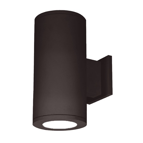 WAC Lighting 5-Inch Bronze LED Tube Architectural Up and Down Wall Light 3500K 4740LM DS-WD05-F35C-BZ