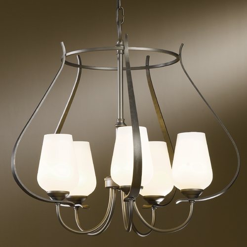 Hubbardton Forge Lighting Hubbardton Forge Lighting Flora Dark Smoke Chandelier 103045-SKT-07-GG0303