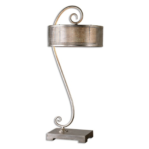 Uttermost Lighting Uttermost Dalou Scroll Silver Table Lamp 26503