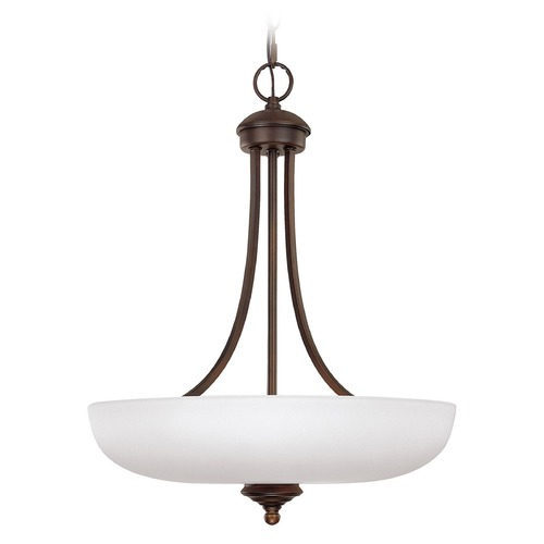 Capital Lighting Capital Lighting Chapman Burnished Bronze Pendant Light with Bowl / Dome Shade 3948BB-SW