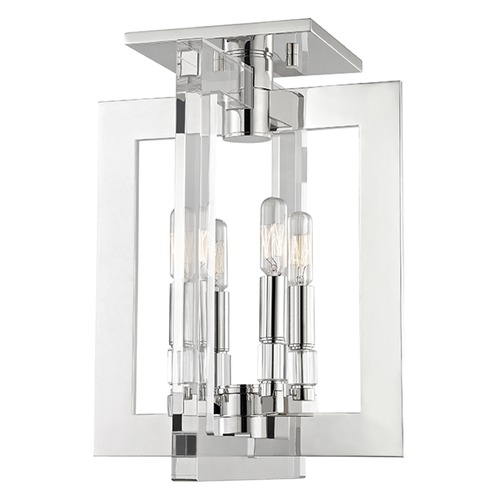 Hudson Valley Lighting Wellington 4 Light Semi-Flushmount Light - Polished Nickel 9311-PN