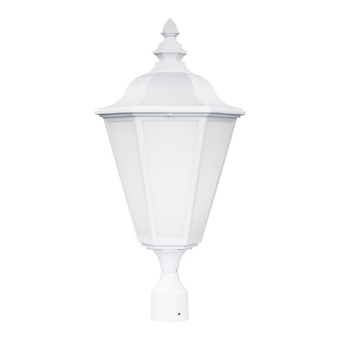 Sea Gull Lighting Sea Gull Brentwood White Post Light 8231BL-15