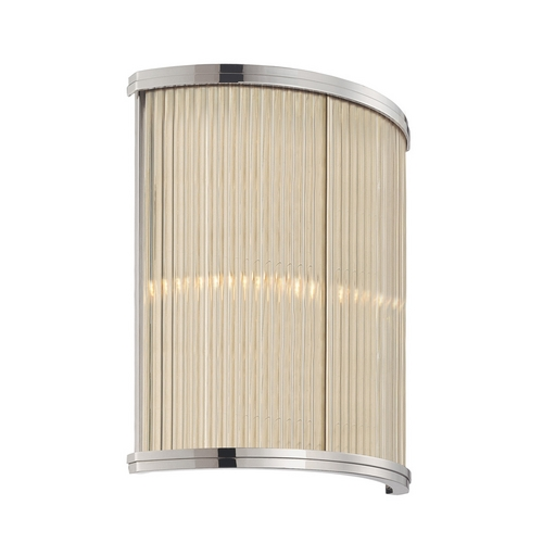 Sonneman Lighting Modern Sconce Wall Light with Clear Glass in Polished Nickel Finish 1970.35