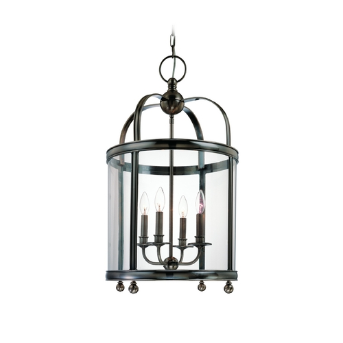 Hudson Valley Lighting Pendant Light with Clear Glass in Historic Nickel Finish 7816-HN