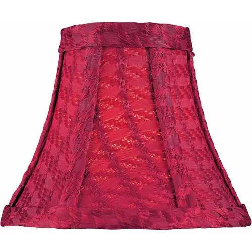 Lite Source Lighting Red Woven Bell Lamp Shade with Clip-On Assembly CH5107-6