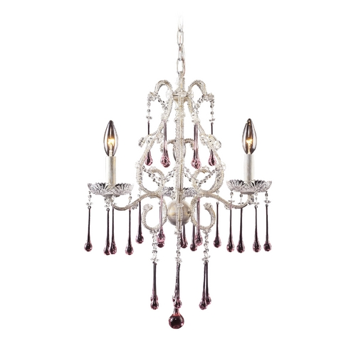 Elk Lighting Mini-Chandelier in Antique White Finish 4001/3RS
