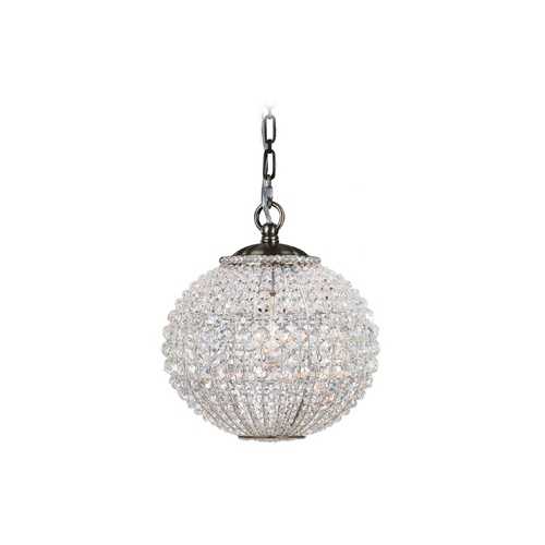 Crystorama Lighting Crystal Mini-Pendant Light 6753-AB