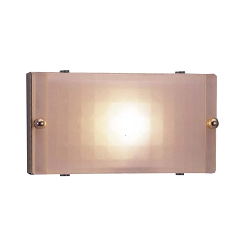 PLC Lighting Modern Sconce Wall Light with White Glass in Polished Brass Finish 1801 PB