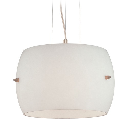 George Kovacs Lighting George Kovacs Brushed Nickel Pendant Light with Drum Shade P583-084