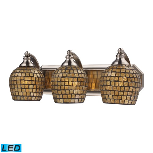 Elk Lighting Elk Lighting Bath and Spa Satin Nickel LED Bathroom Light 570-3N-GLD-LED