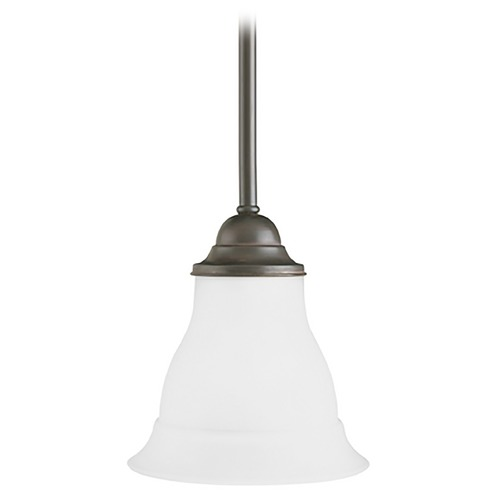 Progress Lighting Progress Mini-Pendant Light with White Glass P5096-20