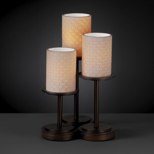 Justice Design Group Justice Design Group Limoges Collection Table Lamp POR-8797-10-CHKR-DBRZ