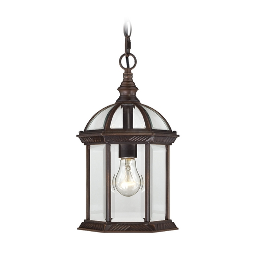 Nuvo Lighting Outdoor Hanging Light with Clear Glass in Rustic Bronze Finish 60/4978