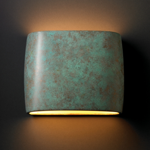 Justice Design Group Sconce Wall Light in Verde Patina Finish CER-8855-PATV