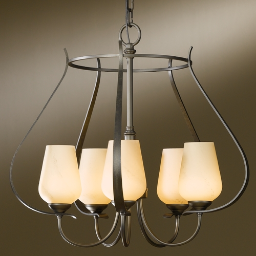 Hubbardton Forge Lighting Hubbardton Forge Lighting Flora Dark Smoke Chandelier 103045-07-H303