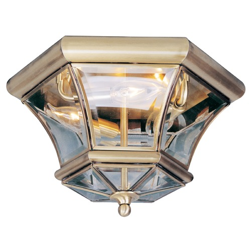 Livex Lighting Livex Lighting Monterey/georgetown Antique Brass Flushmount Light 7053-01