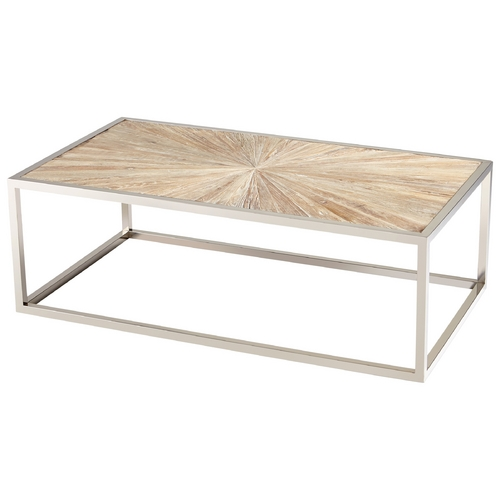 Cyan Design Cyan Design Aspen Black Forest Grove & Chrome Coffee & End Table 06551