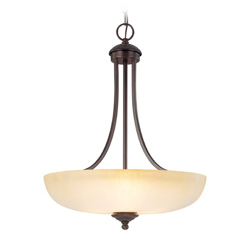 Capital Lighting Capital Lighting Chapman Burnished Bronze Pendant Light with Bowl / Dome Shade 3948BB-TW