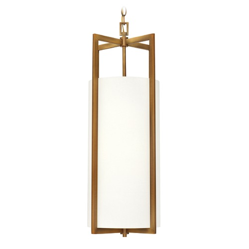 Hinkley Lighting Hinkley Lighting Hampton Brushed Bronze LED Mini-Pendant Light with Cylindrical Shade 3212BR-LED