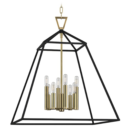 Hudson Valley Lighting Webster 8 Light Pendant Light - Aged Brass 4924-AGB