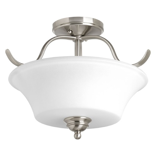Progress Lighting Progress Lighting Applause Brushed Nickel Semi-Flushmount Light P3507-09