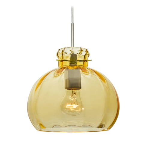 Besa Lighting Besa Lighting Pinta Satin Nickel Pendant Light with Bowl / Dome Shade 1JT-4644GD-SN