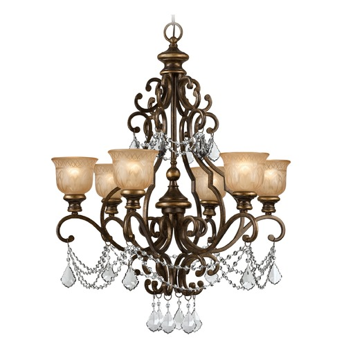 Crystorama Lighting Crystorama Lighting Norwalk Bronze Umber Crystal Chandelier 7516-BU-CL-I