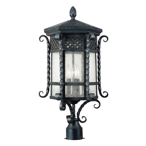 Maxim Lighting Post Light with Clear Glass in Country Forge Finish 30121CDCF