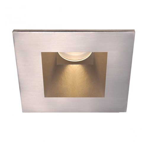 WAC Lighting WAC Lighting Square Brushed Nickel 3.5-Inch LED Recessed Trim 3000K 1130LM 18 Degree HR3LEDT718PS930BN