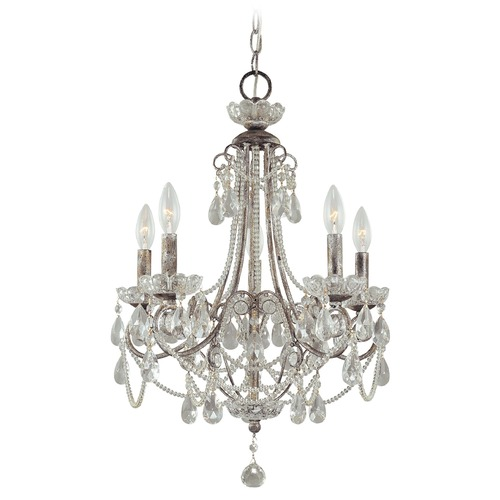 Minka Lavery Mini-Chandelier in Distressed Sil Finish 3134-207