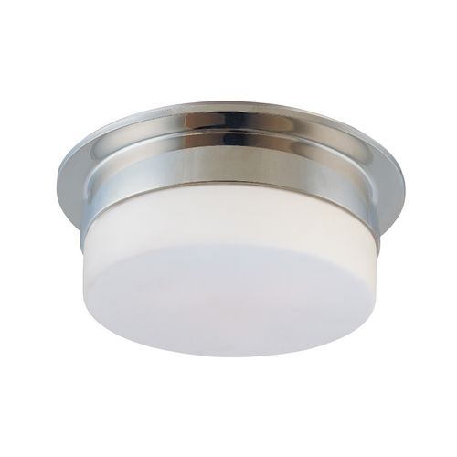 Sonneman Lighting Modern Flushmount Light with White Glass in Polished Nickel Finish 3742.35