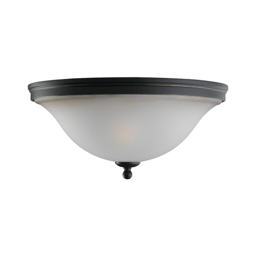 Sea Gull Lighting Flushmount Light with Amber Glass in Heirloom Bronze Finish 75850-782