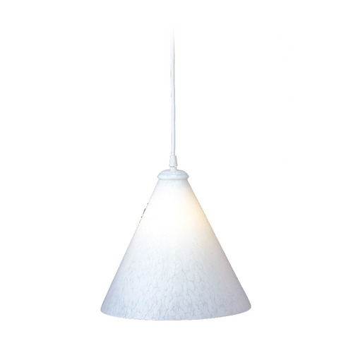 PLC Lighting Modern Pendant Light with White Glass in White Finish 1800 WH/ WH