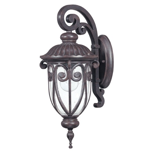 Nuvo Lighting Outdoor Wall Light with Clear Glass in Burlwood Finish 60/2066