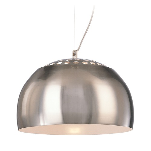 George Kovacs Lighting George Kovacs Brushed Nickel Mini-Pendant Light with Bowl / Dome Shade P861-084