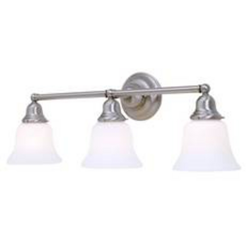 Design Classics Lighting Fluorescent Bathroom Light with Three Bell Shades 673ES-09 KIT W/G9110