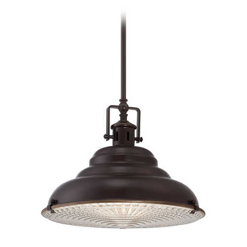Quoizel Lighting Farmhouse Pendant Light Bronze Eastvale by Quoizel Lighting EVE2815PN