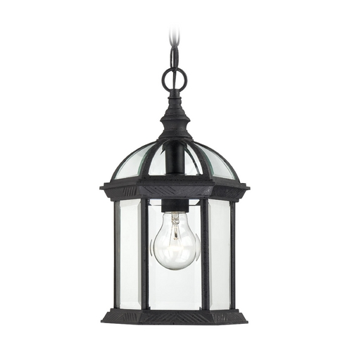 Nuvo Lighting Outdoor Hanging Light with Clear Glass in Textured Black Finish 60/4979