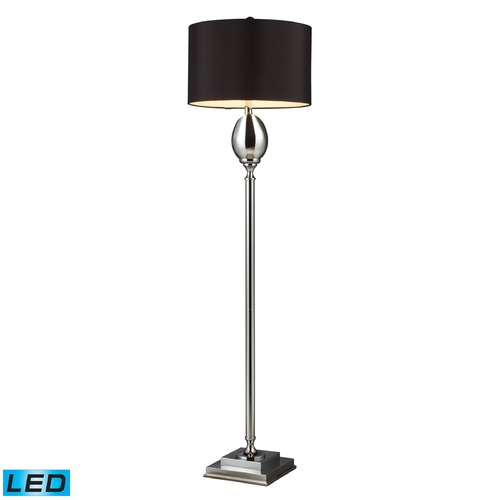 Dimond Lighting Dimond Lighting Chrome Plated Glass LED Floor Lamp with Drum Shade D1427B-LED
