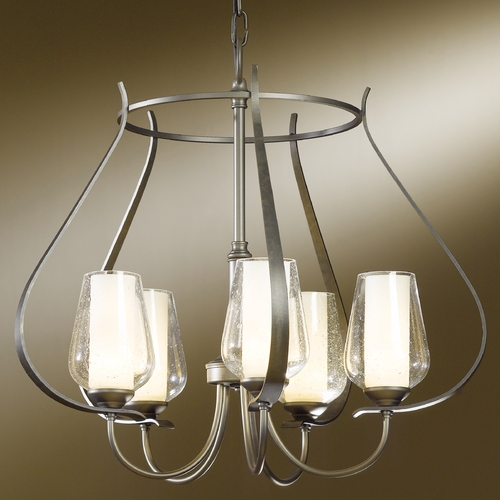 Hubbardton Forge Lighting Hubbardton Forge Lighting Flora Dark Smoke Chandelier 103045-SKT-07-ZS0354