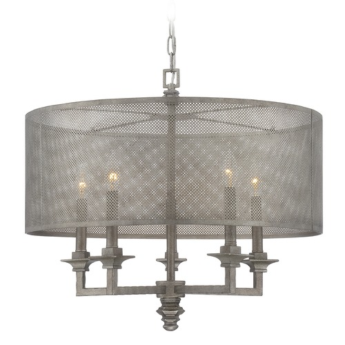Savoy House Savoy House Aged Steel Pendant Light with Drum Shade 7-4306-5-242
