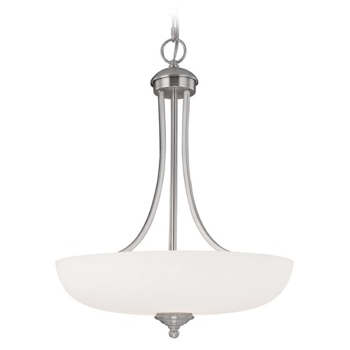 Capital Lighting Capital Lighting Chapman Matte Nickel Pendant Light with Bowl / Dome Shade 3948MN-SW