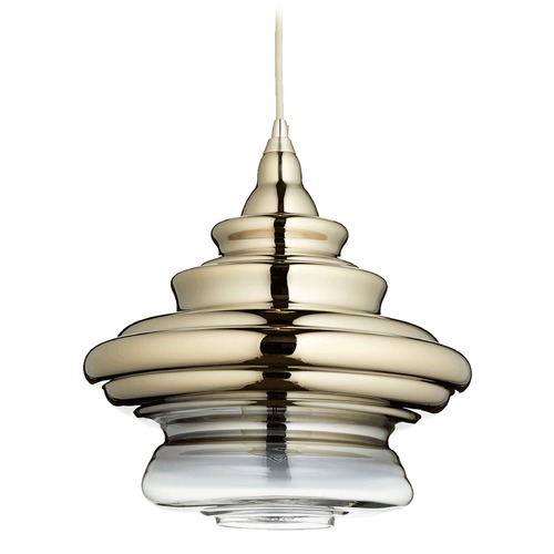Quorum Lighting Quorum Lighting Satin Gold Pendant Light with Bowl / Dome Shade 8003-2020