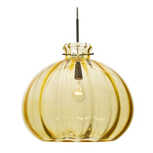 Besa Lighting Besa Lighting Pinta Bronze Pendant Light with Bowl / Dome Shade 1JT-4645GD-BR