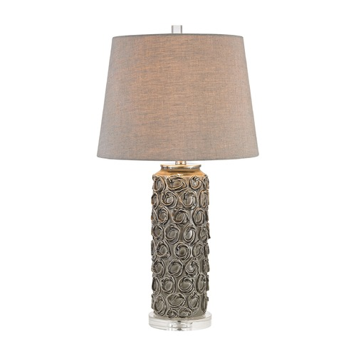 Dimond Lighting Dimond Rosette Grey Glaze Table Lamp with Empire Shade D2919