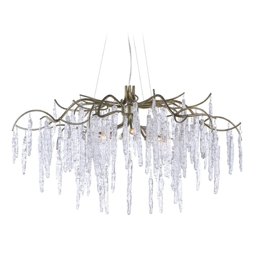Maxim Lighting Maxim Lighting Willow Silver Gold Chandelier 26284ICSG
