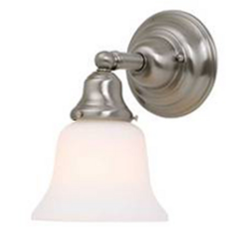 Design Classics Lighting Fluorescent Sconce with Bell Glass Shade 671ES-09 KIT W/G9110