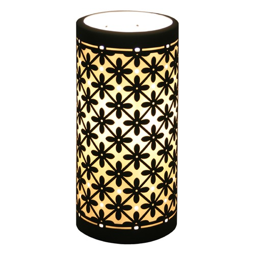 Porcelain Garden Lighting Accent Lamp with Black Porcelain Shade SL05