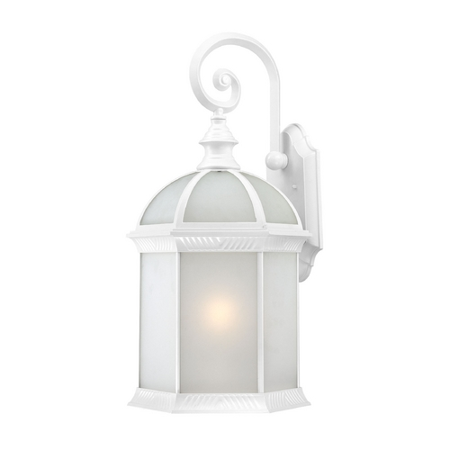 Nuvo Lighting Outdoor Wall Light with White Glass in White Finish 60/4981